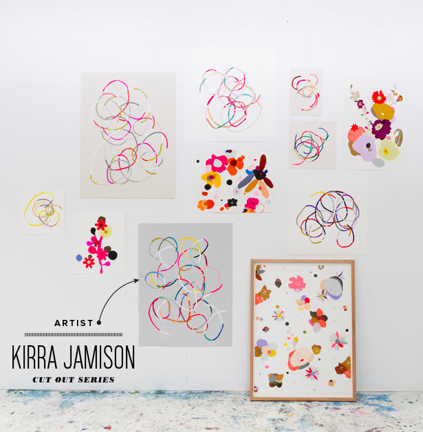 Painter Artist Kirra Jamison Cut Out Series Acrylic Vinyl on Paper