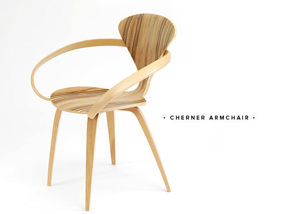 cherner armchair round up molded plywood chair mid century modern