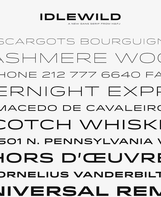 idlewild typeface font sans serif wide extended Hoefler & Frere-Jones