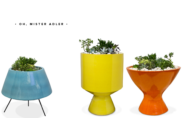 jonathan adler okura planters yellow orange blue mod via www.mstetson.com