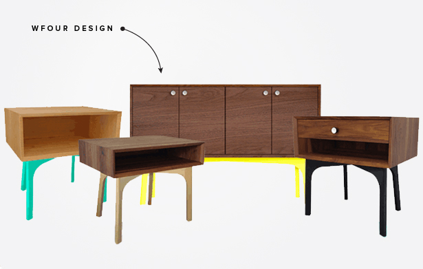 wfour design furniture hand-crafted one-of-a-kind