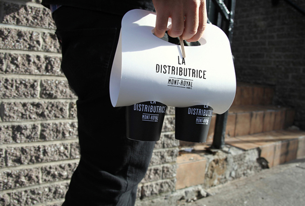 la distributrice coffee montreal canada by Gabriel Lefebvre and Rachel Lecompte branding logo identity packaging