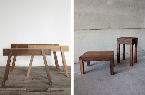 Bellboy Wood Shop Trestles and Squat Tables via MStetson