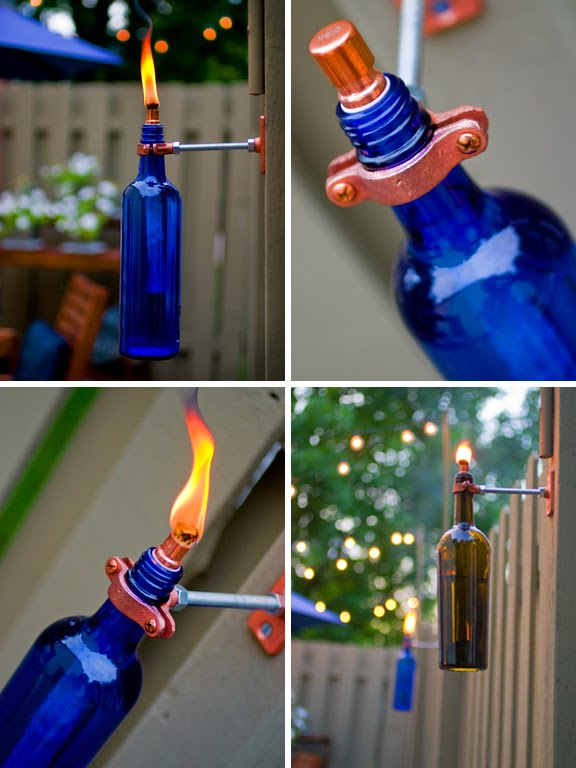 Gerardot & Co. Recycled Wine Bottle Torch