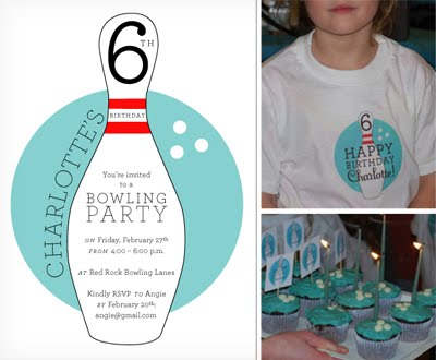 Blonde Designs party ideas Bowling Birthday party