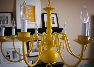 yellow chandelier do it yourself