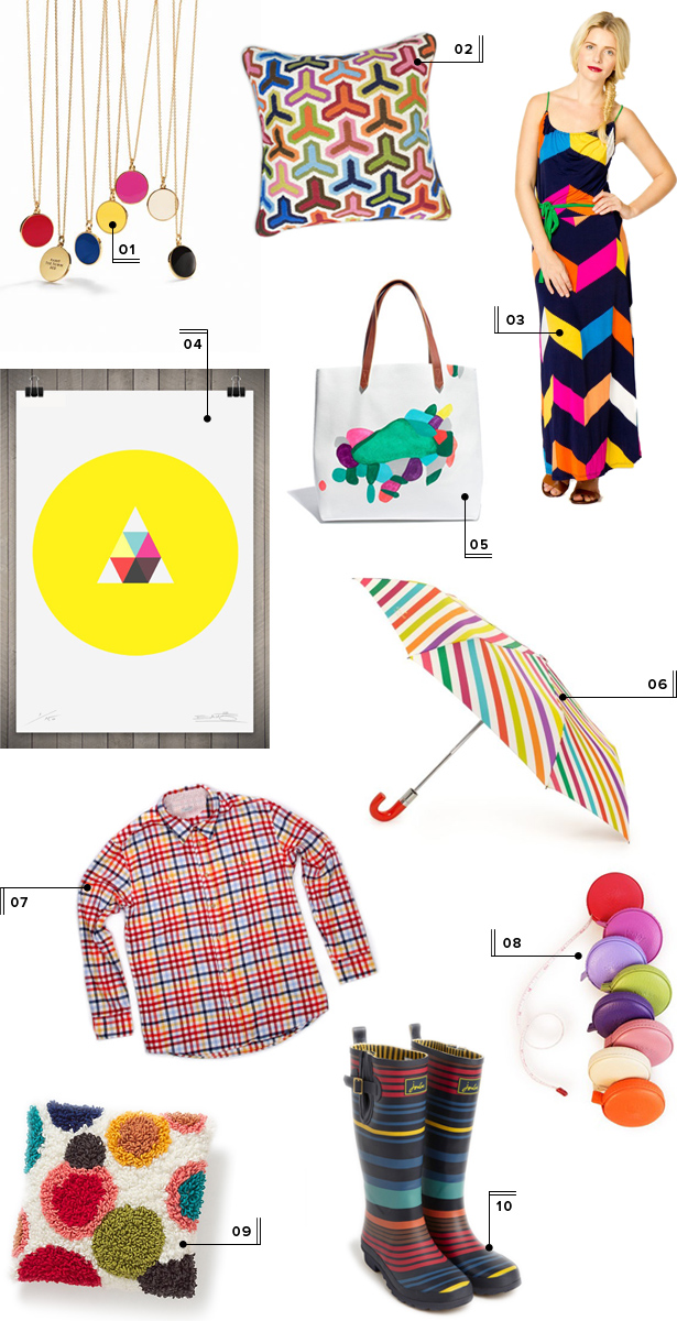 mstetson gift guide 2012 colorful stripes patterned presents