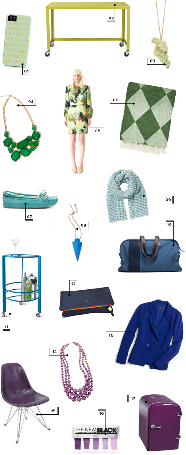 mstetson holiday christmas gift guide ideas 2012 cool colors green aqua blue purple