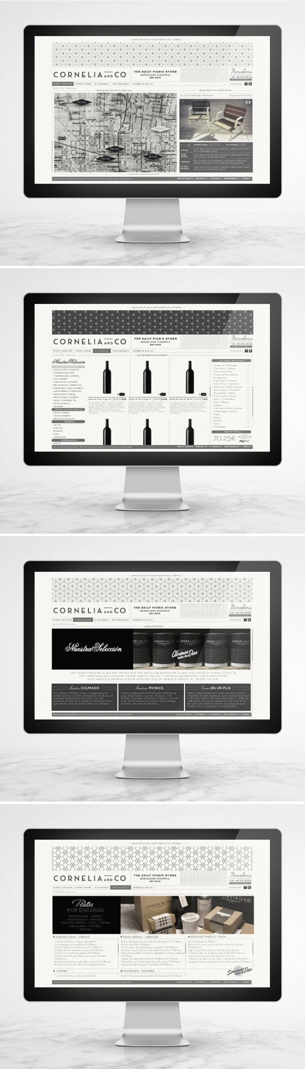Cornelia and Co Barcelona Daily Picnic Store Branding Packaging