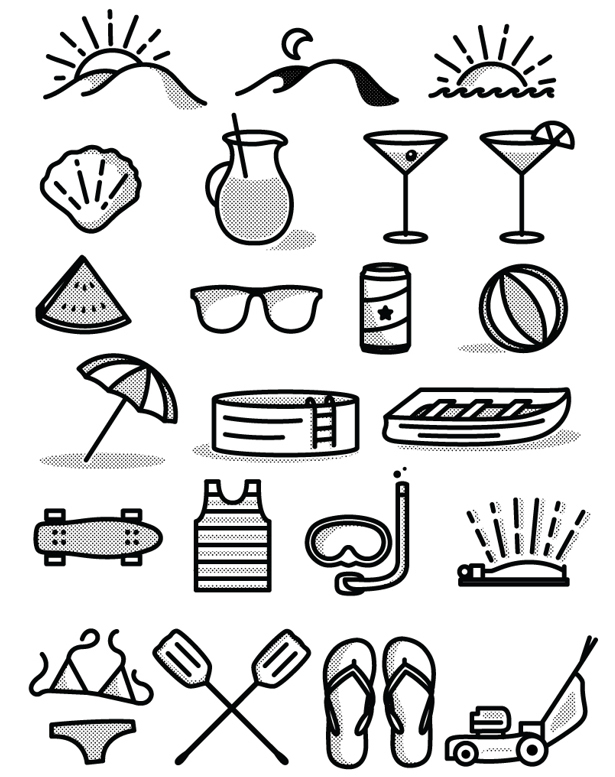 tim praetzel free summer icon set download