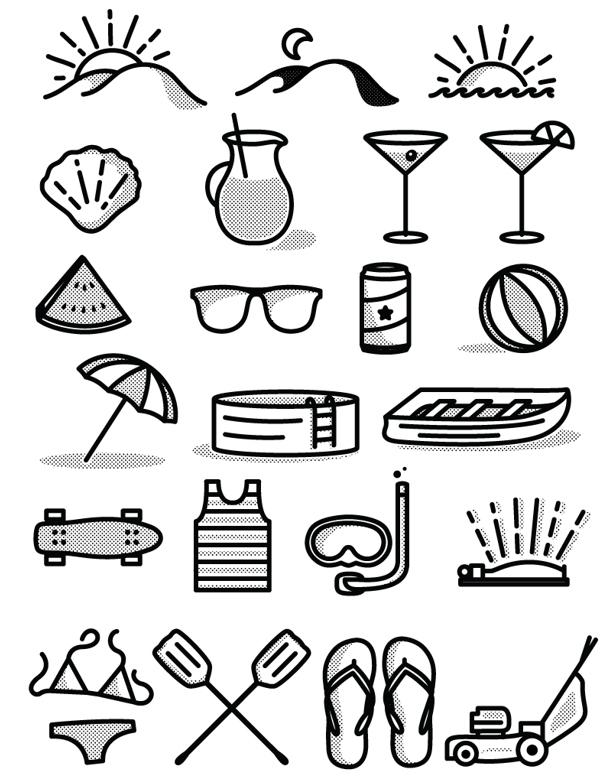 tim praetzel free summer icon set download