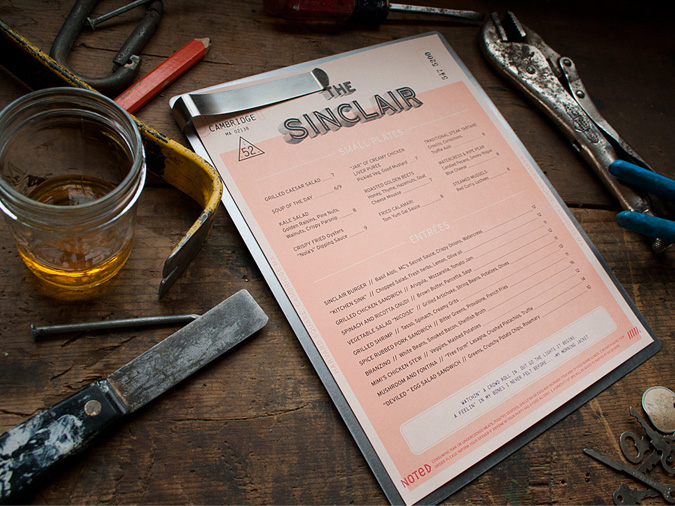 The Sinclair Lunch Menu // By Oat