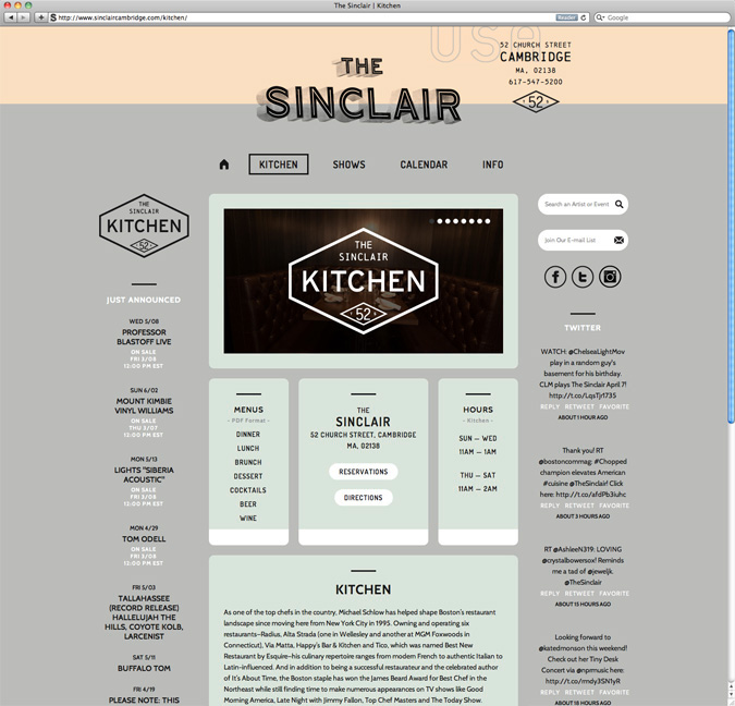 The Sinclair Website // By Oat
