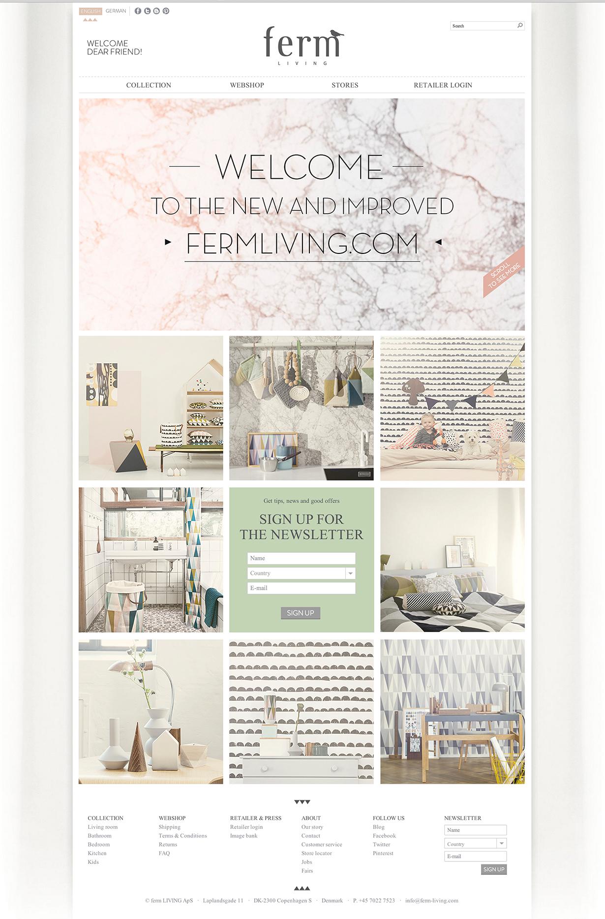 ferm living 2013 website on mstetson design