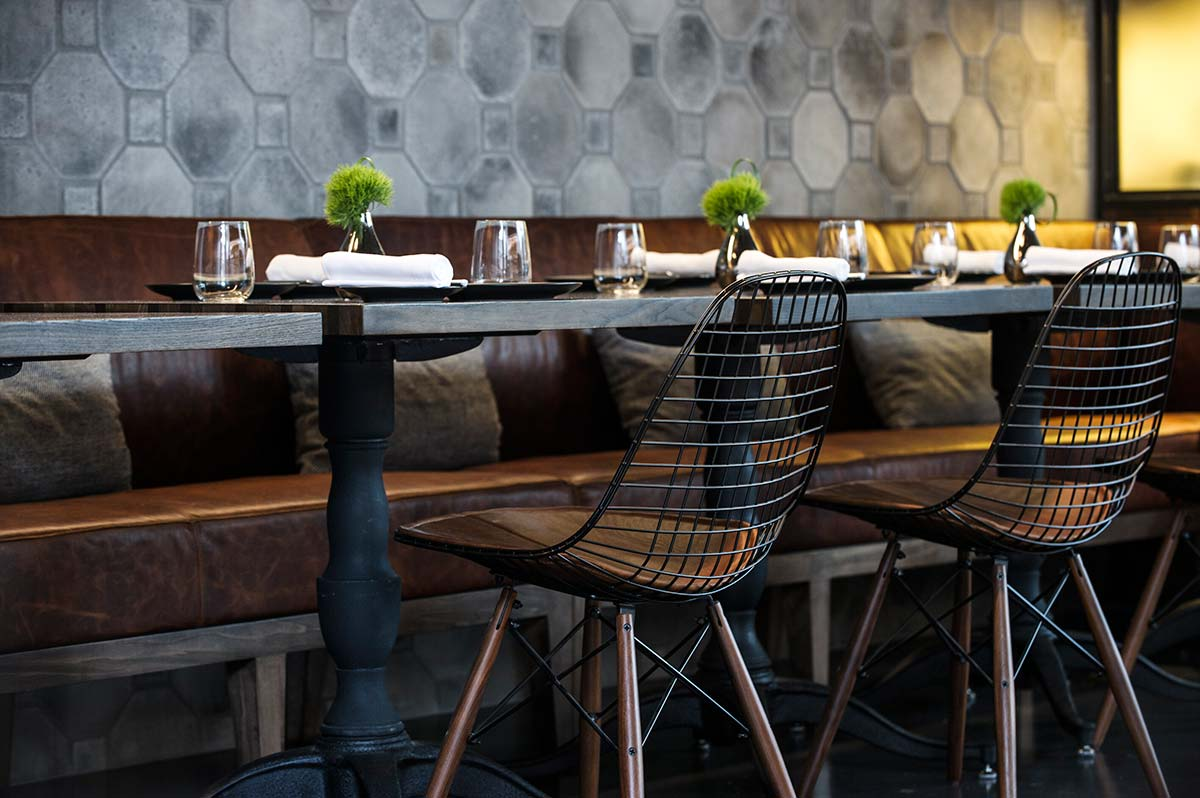 the elm restaurant king & grove, brooklyn // by parts and labor design