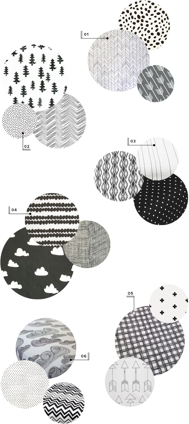 black and white baby nursery crib sheets