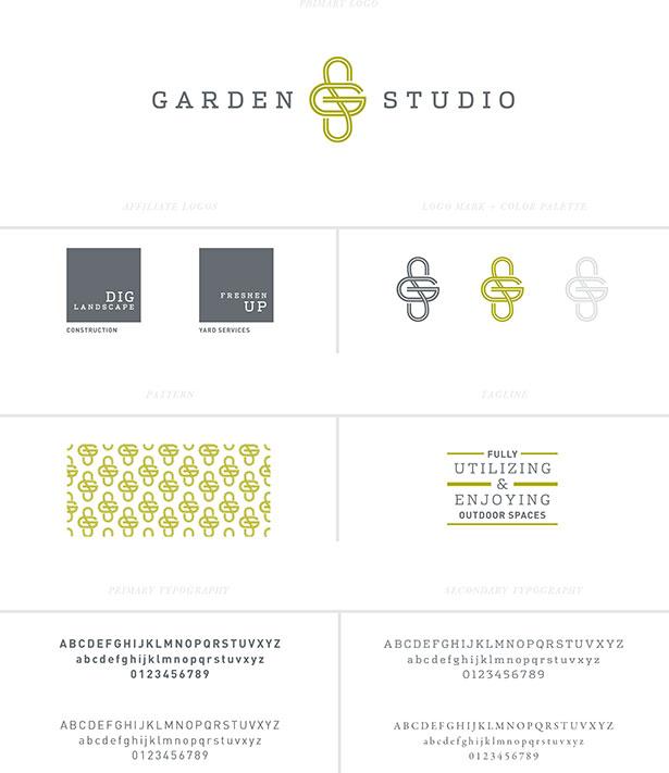 garden studio branding logo by mstetson design