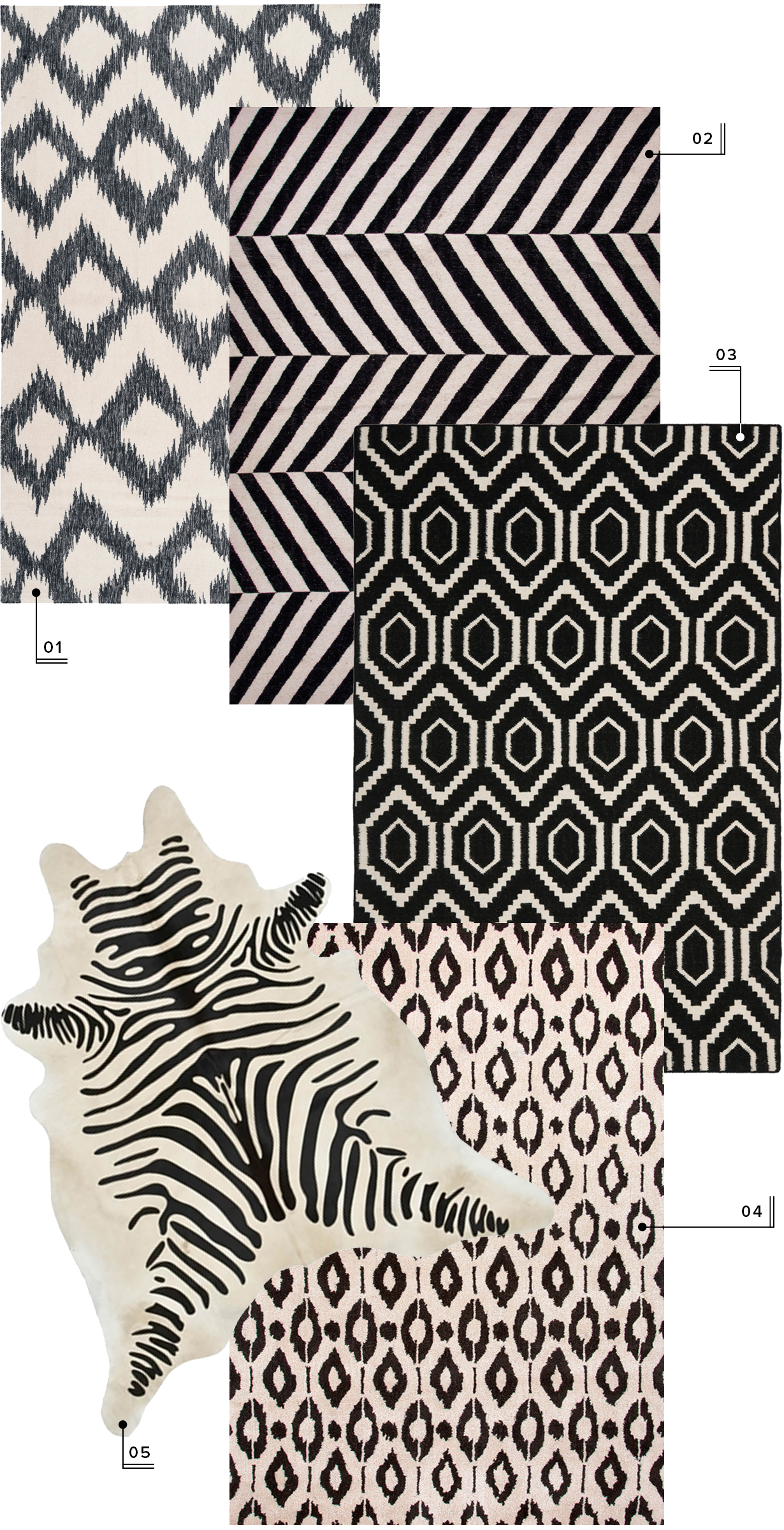 lulu and georgia nursery area rugs // neutral black and white