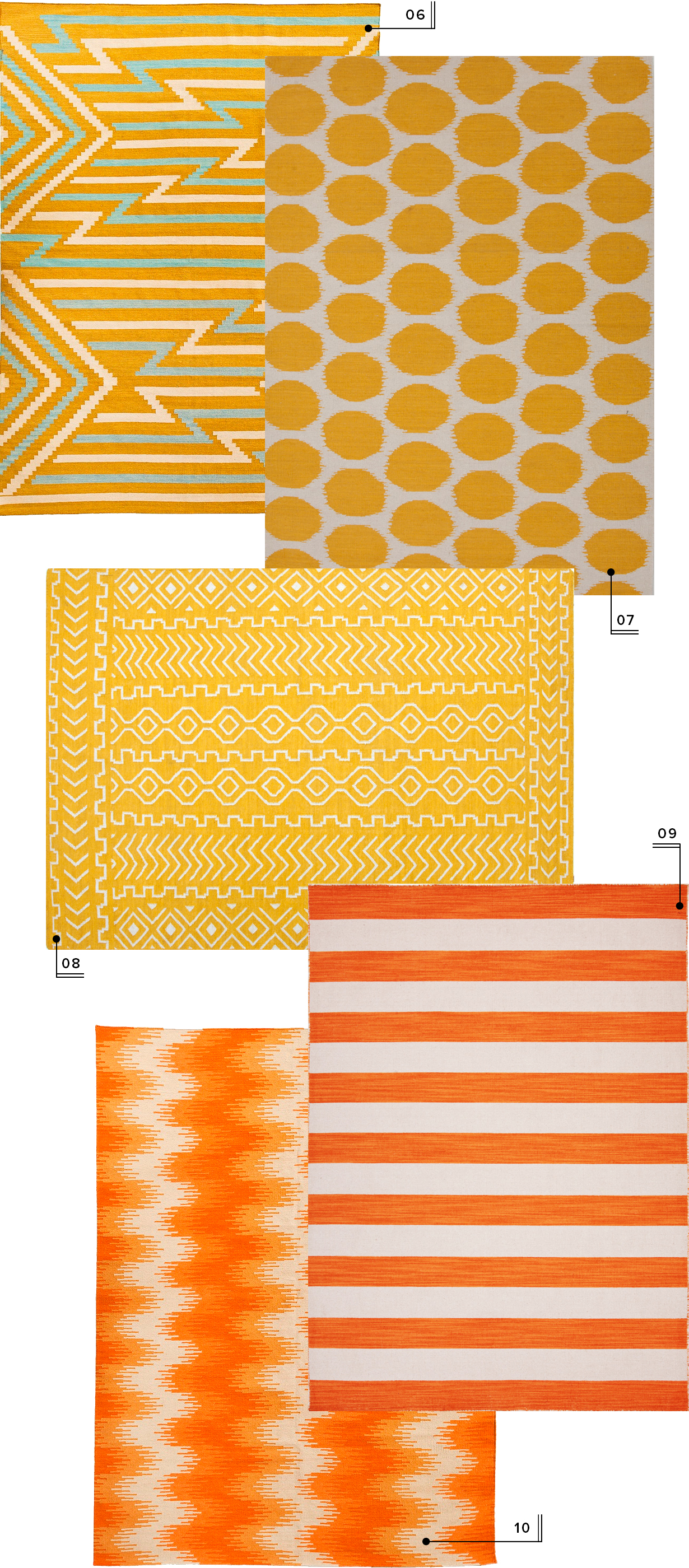 lulu and georgia nursery area rugs // yellow and orange