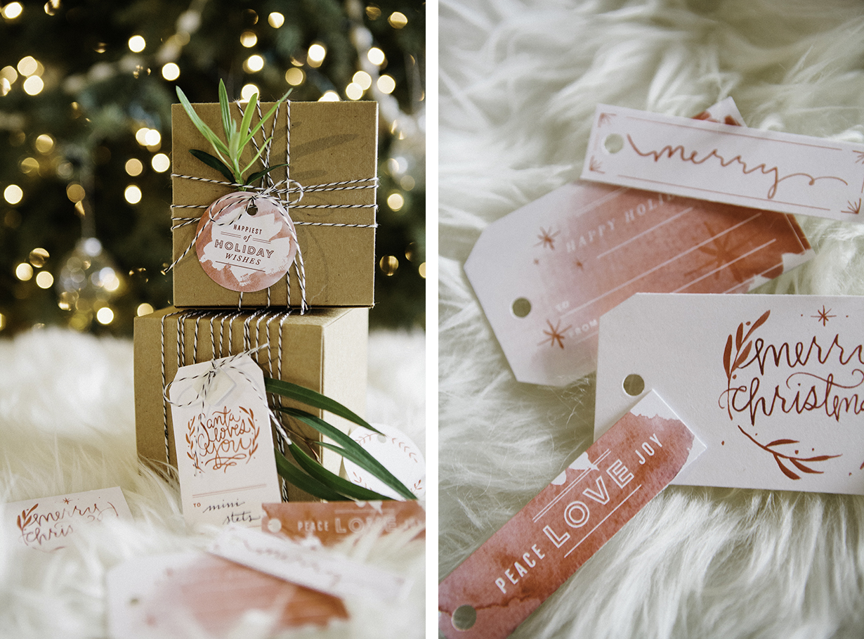 free watercolor hoilday christmas gift tag printables downloadable via