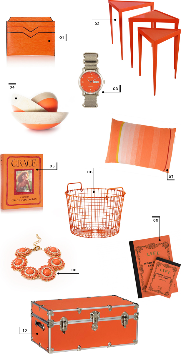 holiday christmas gift guide round-up mstetson design orange gifts