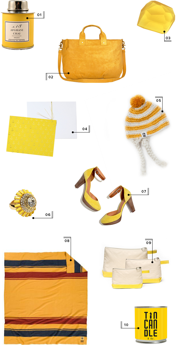 holiday christmas gift guide round-up mstetson design yellow gifts